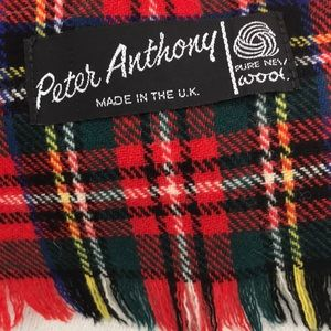 PETER ANTHONY Bedding - Authentic Scottish Red Wool Throw